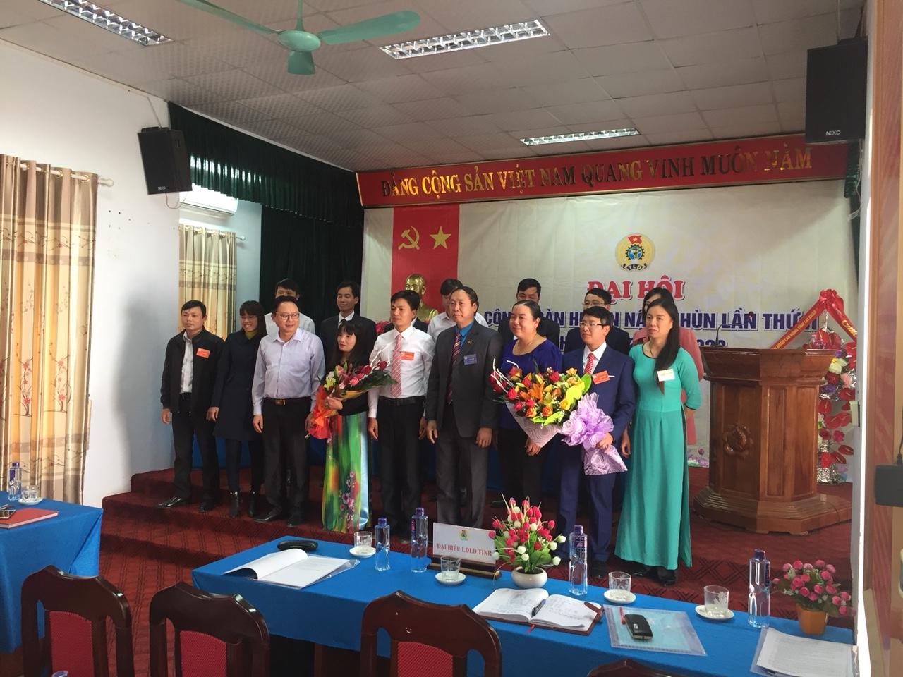 Ban Chấp hành LĐLĐ Huyện khóa II, nhiệm kỳ 2018-2023 ra mắt Đại hội